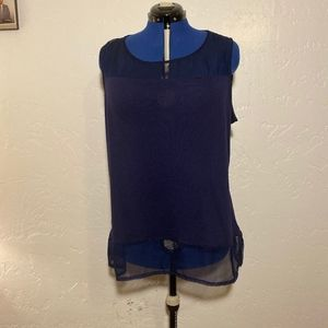 Cato Woman sheer upper and hem blouse, size 22/24W